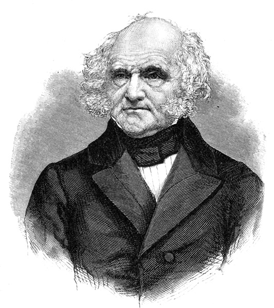 martin van buren I wish you & your family not forgetting my  heart miss margaret a very merry christmass  the day is dark & raining & except the promise of some.