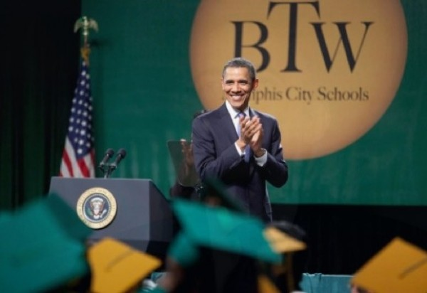 comments about obama address to graduates